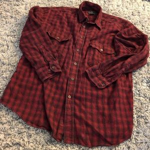 Woolrich flannel red and grey casual Button up